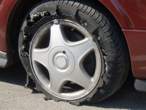 Oakland Tire Deflation Accident
